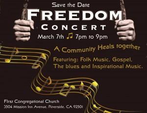 freedom concert flyer